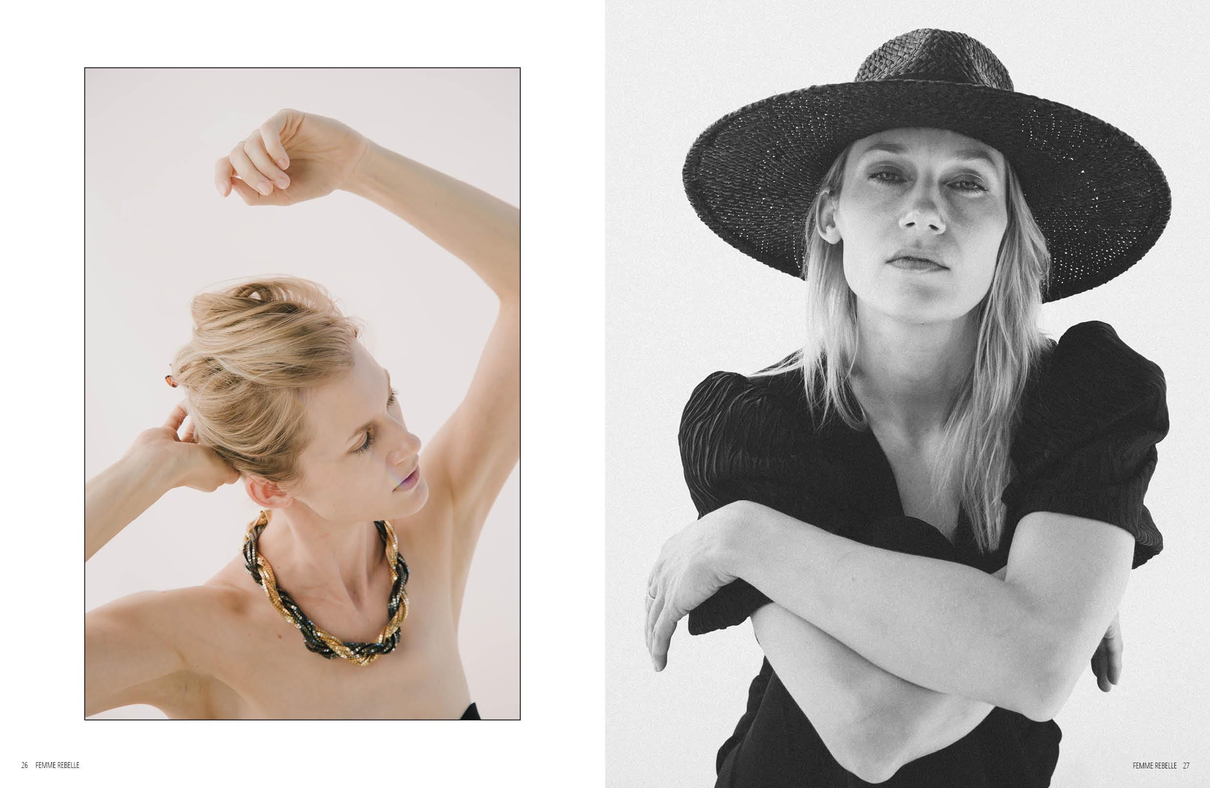 Tara Dupuis model by Jessica Robles Photographer in Femme Rebelle Magazine December 2020
